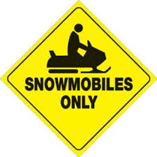 Snowmobiles in the Parking Lot?