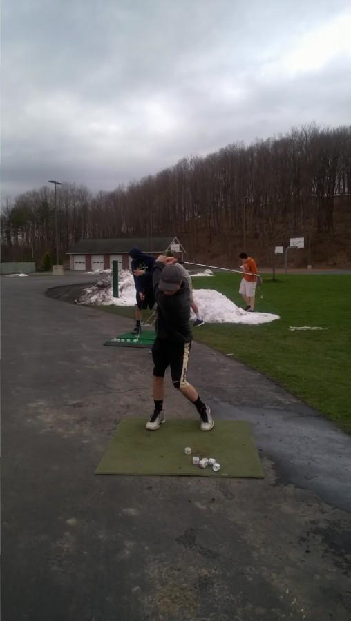 WHS Senior Ashton Sheils hits shots at a recent practice.