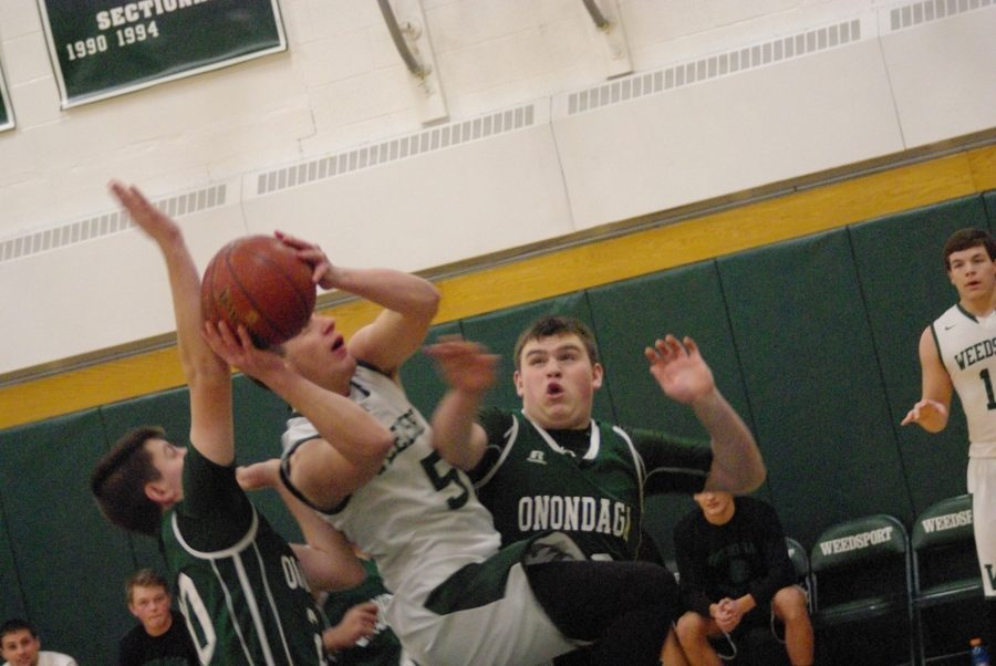 Jake O'Connor goes up for a layup on Tuesday against Onondaga.
