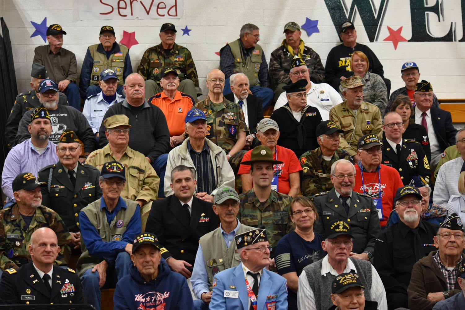 Veterans+from+all+branches+of+the+military+joined+us+today+for+the+show.