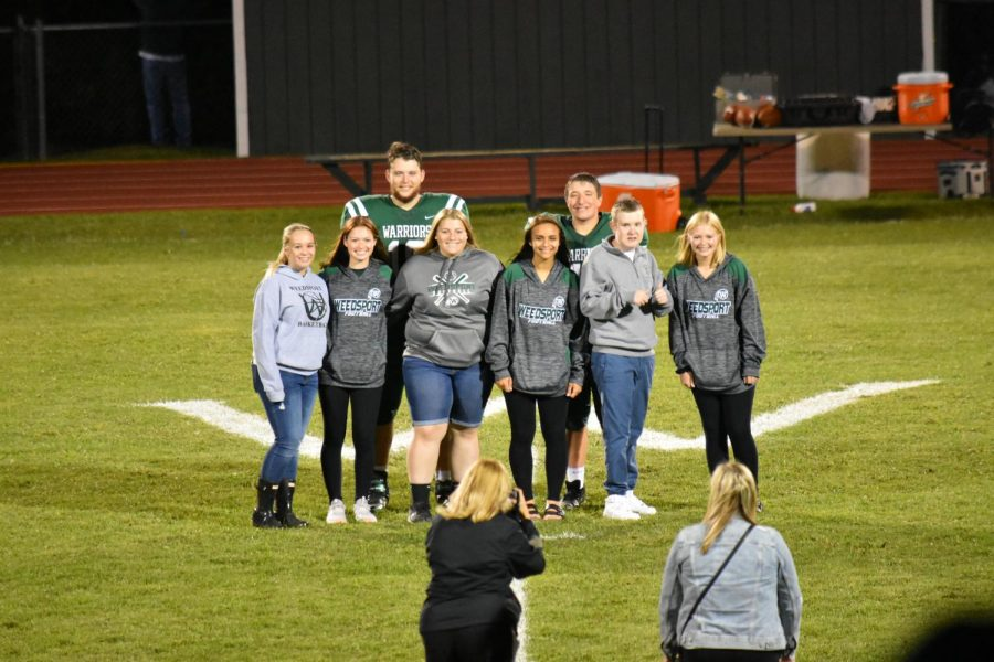 The+2019+Homecoming+Court+is+recognized+at+a+recent+game.