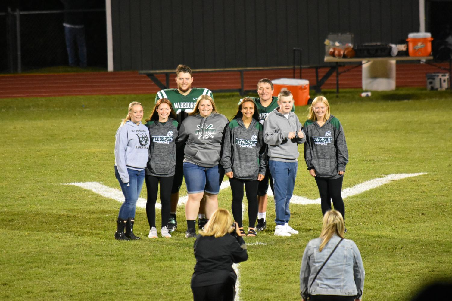 The 2019 Homecoming Court is recognized at a recent game.
