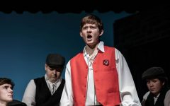 Aaron Brown in Weedsport's production of Les Miserables.