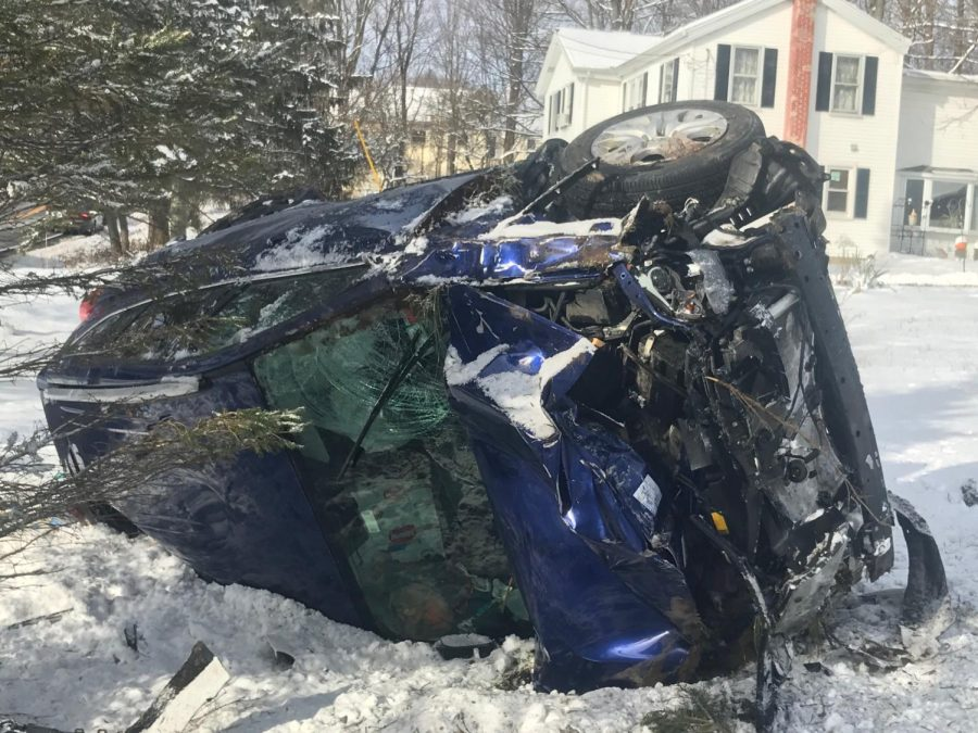 The Leonardi's car after the accident referenced in the story.